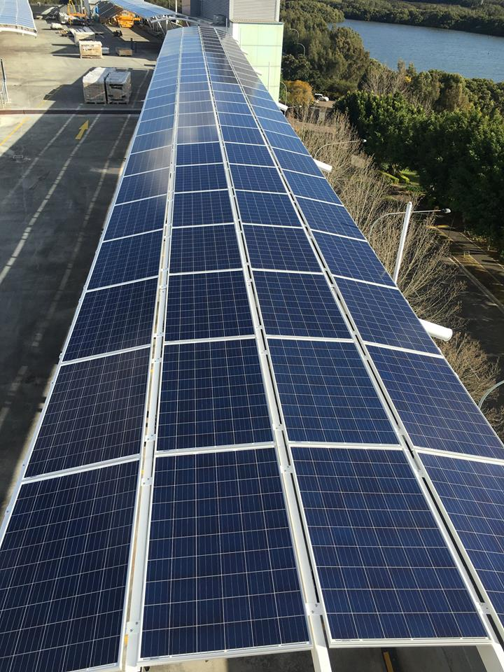 450kW IKEA Solar Commercial Carport Installation Rhodes Shopping Centre Sydney Olympic Park Enphase Canadian Solar